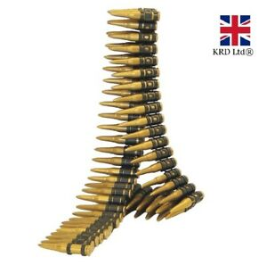 BULLET BELT Army Fancy Dress Costume Accessory Ammo Belt Rambo Adult Kids NEW UK