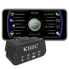 PLX Kiwi4 ELM327 OBD2 Bluetooth Scanner Trip Engine Data Logger OBD11 Scan Tool