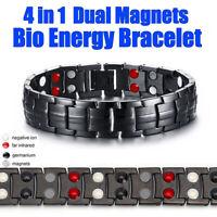 4 IN 1 UNISEX BIO MAGNETS TITANIUM STRONG ANION MAGNETIC TREATMENT BRACELET AU