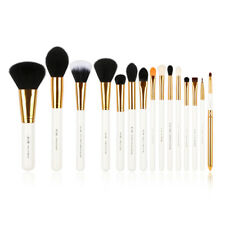 Jessup 15Pcs White Cosmetic Brush Set powder Tapered Face Soft Synthetic Tool AU