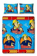 "Double ""Fireman Sam Brave"" Rotary Duvet Cover & Pillowcase Set"