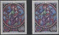 """FRANCE YVERT 1419 """" CATHEDRALE NOTRE DAME PARIS VARIETE COULEUR """" NEUFS xx LUXE"""