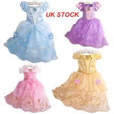Kids Girls Princess Dress Up Costume Fairytale Belle Cinderella Aurora Rapunzel*