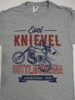 Evel Knievel Butte Montana Est. 1966 Motorcycle Wheelie Daredevil T-Shirt