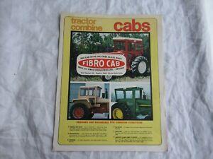 Fibro Cab tractor and combine cabs brochure John Deere 4020 Farmall Oliver MF