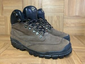 RARE🔥 Nike Air Vintage Hiker Hiking Boots Brown Leather 90's Sz 9.5 685010-221