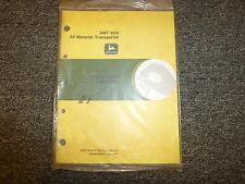 John Deere Model AMT600 All Material Transporter Owner Operator Manual OMW38914