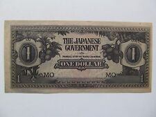 WWII The Japanese Government One Dollar Banknote Philippines Japanese Invasion
