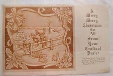 VINTAGE 1957 MERRY CHRISTMAS BONUS Doodle Page Craftaid Leatherwork design DEER