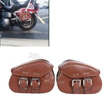 Motorcycle PU Side Saddle Bags For Suzuki Boulevard C109R C50 C90 S 40 50 83