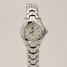 Tag Heuer Link Stainless Steel Quartz Diamond MOP Dial 28mm WJ1319-0 Watch