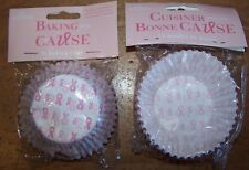 150 Fox Run Pink Ribbon Paper Party Bake Cups Cupcakes Muffin Liners
