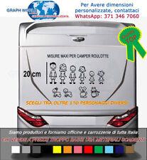 3 adesivi stickers personalizzati vetri camper famiglia nome bambini cane gatto