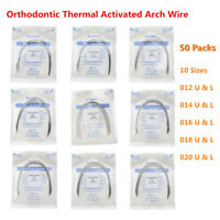 50X Dental Arch Wire Thermal Activated NITI Round Ovoid Form 10pc/pack