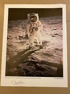"Buzz Aldrin - Apollo 11 Astronaut - Signed NASA lithograph - 14"" x 11"""