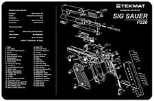 Sig Sauer P220 Armorers Gun Cleaning Bench Mat Exploded View Schematic NEW !