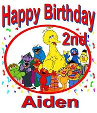 CUSTOM PERSONALIZED SESAME STREET BIRTHDAY T SHIRT