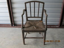 English Regency Dining Room Chairs with Rush bottoms need restoration