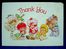 Vtg Kenner Strawberry Shortcake Post Card Thank You American Greetings Corp 1982