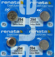 4 Renata 394 Watch and Calculator Batteries