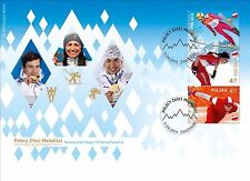 FDC Olympic stamps Polish gold medalists SOCHI 2014 cross country speedskating