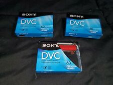 Lot of 3 Sony DVC Tapes Premium (60 min. each) NEW