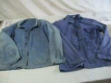 lot de 2 veste bleu de travail ancienne.