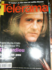 Télérama N° 2537 1998 Gérard Depardieu Monte Cristo Laetitia Masson A vendre TV