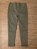 Umgee USA Women's Size Small Green Pull On Tapered Jeggings Cotton Polyester EUC