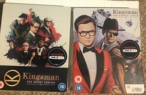 Kingsman 1+2 Secret Service + Golden Circle Steelbook 4K Blu-ray RARE HMV New