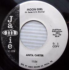 ANITA CARTER Moon girl Mama don't cry at my wedding 1960 TEEN POP Promo 45 e6973