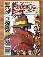 FANTASTIC FOUR #296 signed JERRY ORDWAY JIM SHOOTER newsstand variant COA