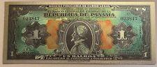 PANAMA 1 BALBOA 1941 Superb silver plated polymer banknote