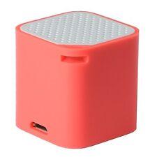 Mini Bluetooth Speaker Selfie Remote Anti Lost Handsfree Android/Apple (Red)