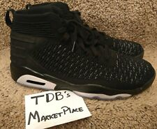 check out 0d68b 5ab3d Nike Jordan Flyknit Elevation 23 Black Metallic Silver AJ8207 010 RETRO  Size 11