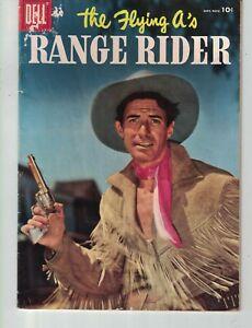 1956 Range Rider four color #15 Dell movie Golden Age