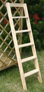 Anlegeleiter 5-8 Stufen Holz Deko Holzleiter Hochbettleiter Leiter