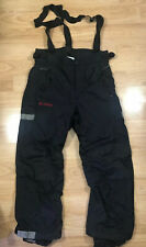 Mens COLUMBIA Snowpants Size Large Black And Red