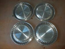 "1960 60 Pontiac Bonneville Hubcap Rim Wheel Cover Hub Cap 14"" OEM USED Y3 SET 4"