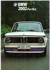 BMW 2002 Turbo 1974-75 Italian Market Sales Brochure