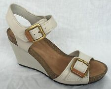 Clarks Women's 100% Leather Wedge High Heel (3-4.5 in.) Shoes