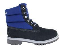 Bottes bleues en cuir pour garçon de 2 à 16 ans