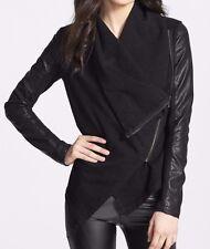 BLANKNYC ~ Juniors Black 'Private Practice' Mixed Media Moto Jacket ~ Size XS