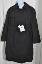DSCP GARRISON COLLECTION ALL WEATHER TRENCH COAT JACKET SIZE 40S NWT BLACK