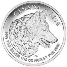 2016 CANADA $2 Wolf (from set) 1/10 oz 99.99% silver proof finish - coin only