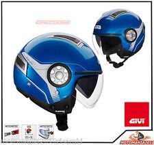 Casco Helmet Jet Givi 11.1 Air Jet Moto Scooter Blu Met. tg Xs 54
