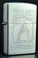 Zippo titanic: cromo cepillado/brushed Chrome, rareza de 2000