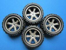 4 WHEELS & TIRES 1/16 TRAXXAS MINI E-REVO SUMMIT 86X51MM 12MM HEX 1/2 OFFSET RC
