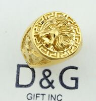 DG Men's Gold Stainless-Steel EAGLE,LION Head.Ring Size;8.9,10,11,12,13 + Box