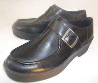 Vagabond Womens Boots Low Ankle EU 38 US 7 Black Leather Monk Strap Moc Toe 323